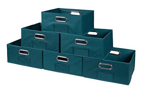 Niche Cubo Half-Size Foldable Fabric Storage Bins (Set of 6), Teal
