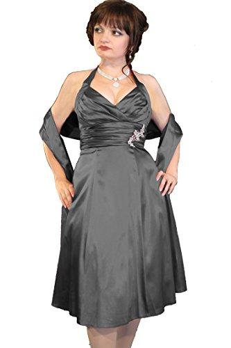 Abendkleid Farbe Größe und Juju Schwarz Damen Christine Neckholder CwXAwtqg
