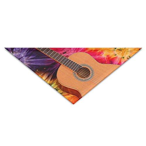 Acoustic Triangle (OLGCZM Music Guitar Acoustic Pet Dog Cat Puppy Bandana Triangle Head Scarfs Accessories)