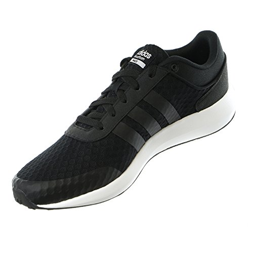 Adidas NEO Men's Cloudfoam Race Running Shoe, Black/Black/White, 9.5 M US