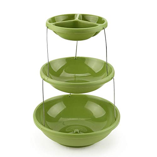 DHmart Best The Three-tiered Collapsible Cake Dessert Snacks Fruit Party tray by DHmart