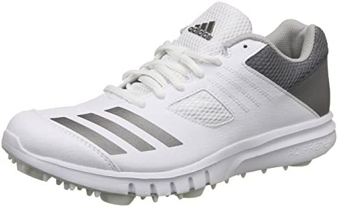 adidas Howzat Mens Adult Cricket Trainer Spike Shoe White