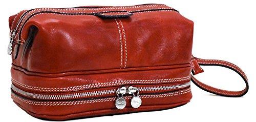 Positano Full Grain Leather Travel Dopp Kit by Floto
