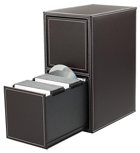 HipCE One Touch 200 CD/DVD Filing Cabinet (Dark Brown) (Storage 200 Rack Dvd)