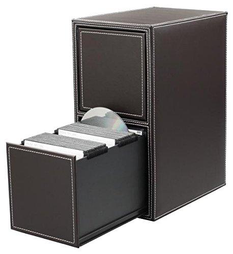 HipCE One Touch 200 CD/DVD Filing Cabinet (Dark Brown) (Rack Dvd 200 Storage)