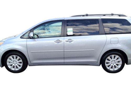 Toyota Sienna Body Side Moldings Painted in the Factory Paint Code of Your Choice 1H1 ()
