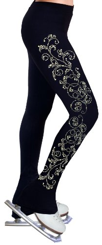 Figure Skating Practice Pants with Rhinestones R52