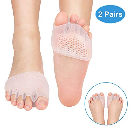 Gel Toe Separator Bunion Pads, Bunion Corrector Protector with Toe Straighteners, Support and Pain Relief for Hallux Valgus, Overlapping, Hammer, Turf, Bent Toe, Aid Surgery Treatment, 2 Pair
