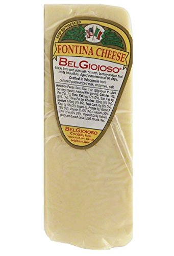 BELGIOIOSO Cheese Wedge Fontina, 5 Ounce (Pack of 12)