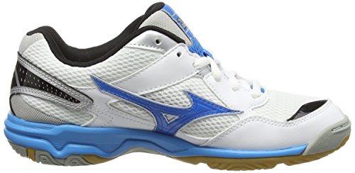 Mizuno Wave Twister 4 (w), Chaussures de Volleyball Femme Blanc (White/Diva Blue/Silver)