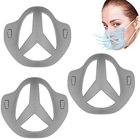 copertura per la bocca Telaio di supporto interno Protezione per rossetto in silicone Risparmio il trucco riutilizzabili lavabile Crea pi/ù spazio per respirare Supporto 3D per copertura facciale