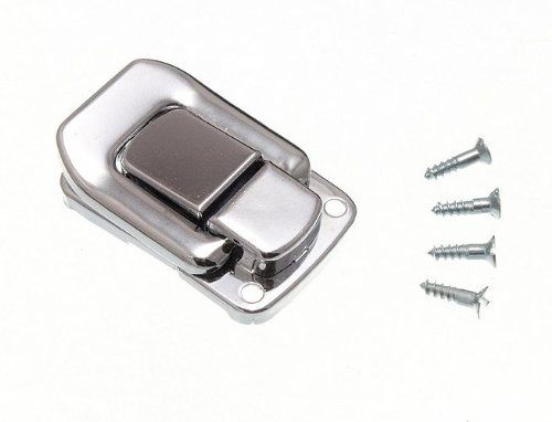 100 X Case Clasp Toggle Fastening Trunk Catch 48Mm X 33Mm Chrome Plated by DIRECT HARDWARE