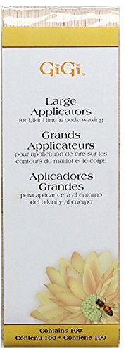 GiGi Large Applicators for Bikini Line Body Waxing 100 ea (Pack of 12) by GiGi