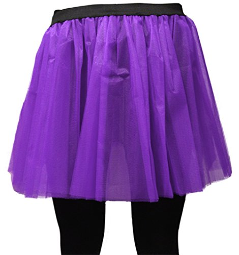 For Flo 35 Skirt Long A Neon Uv Funeral 6cm Voilet Tutu express q0fqwI