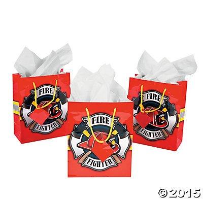 Fire Gift (Firehouse Fireman Firefighter Gift Bags -12)