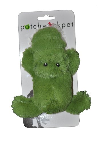 Patchwork Pet Toughy Wuffies Alligator 6-Inch Squeak Toy for Dogs on Cardstock