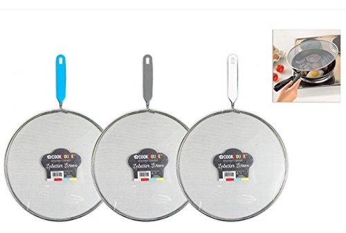 3 x Round Metal Mesh Food Grease Splatter Cooking Screen Frying Pan Guard 24cm RSW