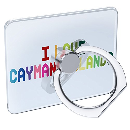Cell Phone Ring Holder I Love Cayman Islands,Colorful Collapsible Grip & Stand ()