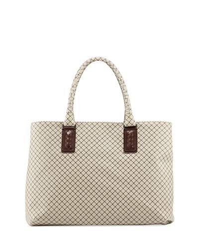 14825c9dddc25 Amazon.com: Bottega Veneta Medium Intrecciato-Trim Stamped Rubber Tote Bag  Made in Italy: Shoes
