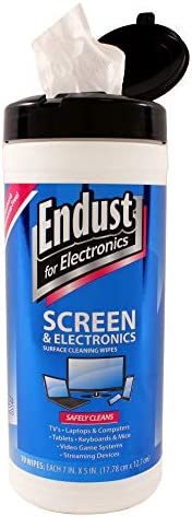 Endust for Electronics, Surface cleaning wipes, Great LCD and Plasma wipes, 70 Count (11506)