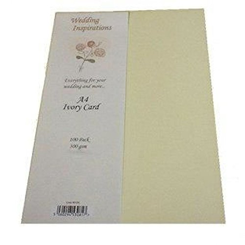 Craft UK Limited 300gsm Hammer Finish Blank Card Cardstock Ivory Cream - per pack of 100 ()