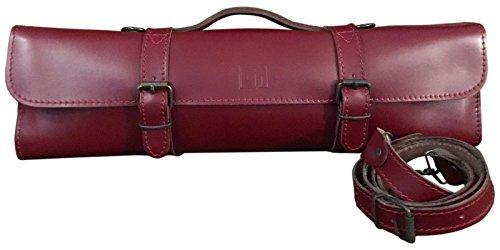 Trevor James Leather Flute Bag/Case Cover-Cherry Red