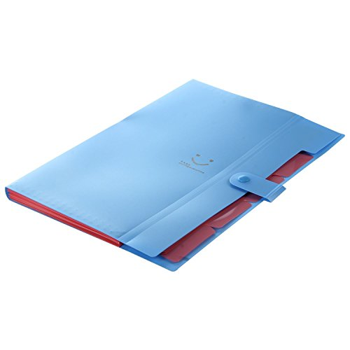 Amazon.com : SODIAL(R) Kawaii FoldersStationery Carpeta File Folder 5layers Archivadores Rings A4 Document Bag Office Carpetas£¨Blue£ : Office Products