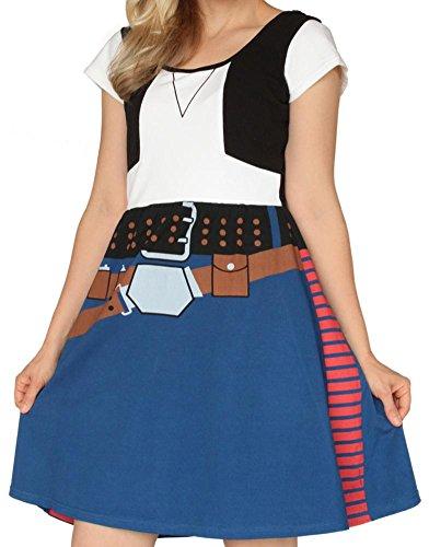 Han Solo Costume Dress (Star Wars- Han Solo Costume Dress Mini Dress Size M)