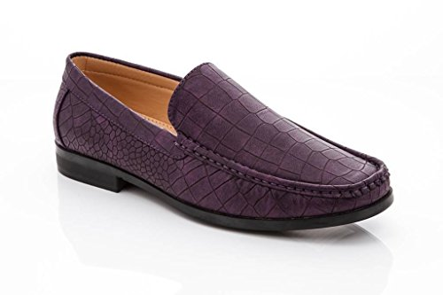 Textured Men's On Purple Slip Driving Loafers Adolfo Driving Cut Shoes 6 Karl Low 7150 Franco Vanucci EPnqqUxwIT