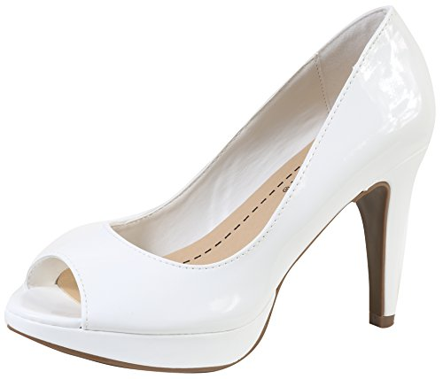 Bree City Pump White Patent Classified Peep Women's Patent Soda Toe wtx1f4q4F
