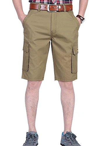 Wxian Men's Men's Outdoor Multi-Pocket Cargo Shorts