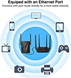 WiFi Repeater-WiFiRangeExtender, Dual Band High Speed up to 1200Mbps, 360° Wide Coverage Eliminate WiFi Dead Zones, Support WPS One Button Setup with 2 External Antennas