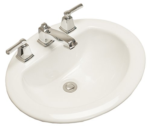 Western Pottery 172 Oval Drop-In Bathroom Sink White ()