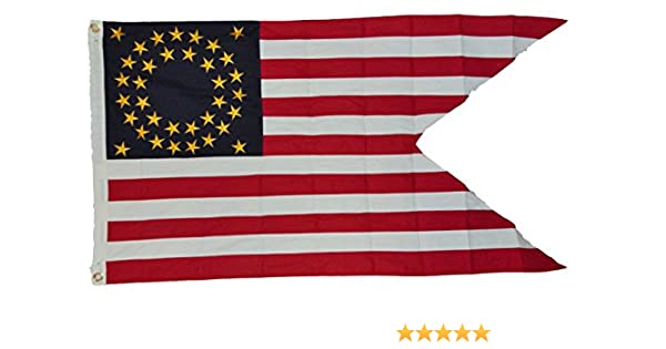 3x5 Embroidered Sewn Union Cavalry Guidon 600D 2 Ply Nylon Flag 3/'x5/' W// 3 Clips