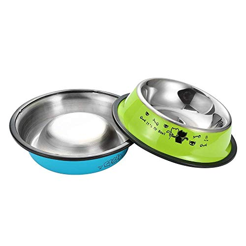 TOPCOMWW Dog Bowl Travel Pet Dry Food Bowls For Cats Dogs Bowls Outdoor Drinking Water Fountain Pet Dog Dish Feeder Pet…
