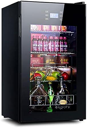 SHENXINCI 85W Vinotecas con Una Sola Puerta Refrigerador,Display Electrónico - Iluminación Interna LED,95L/-5 ℃ ~ 10 ℃- Color Negro [Clase De Eficiencia Energética C]