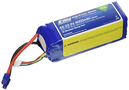 E-flite 22.2V 4000mAh 30C 6S LiPo, 12AWG: EC3, EFLB40006S30