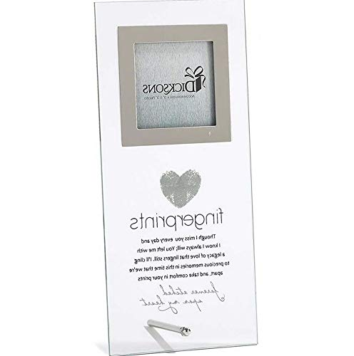 Mikash Fingerprints Memorial Poem Glass 10 x 5 inch Photo Frame | Model MMRLD - 983 | 10.5 x -
