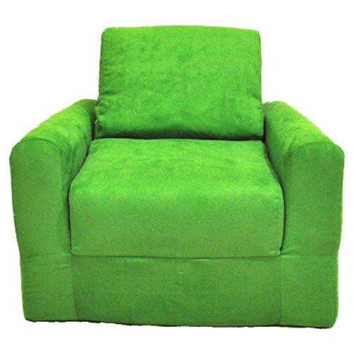 Fun Furnishings Chair Sleeper, Lime Green Micro Suede by Fun Furnishings