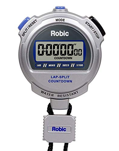 Robic Silver 2.0 Twin Stopwatch and Countdown - Time Stopwatch Countdown Timer