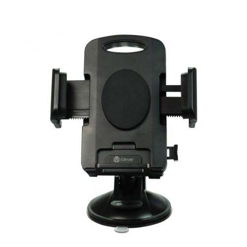 iClever 360 Degree Rotation Windshield Dashboard Car Holder, Strong Suction Cup Phone Mount, Black