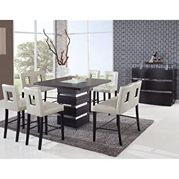 Wonderful Global Furniture Dining Table, Frosted/Wenge Part 18