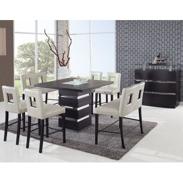 Global Furniture Dining Table, Frosted/Wenge (Wenge Set Dining Table)