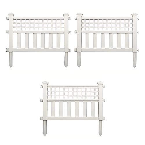 Suncast GVF24 Grand View Fence, White (Vinyl Fencing Decorative Garden)