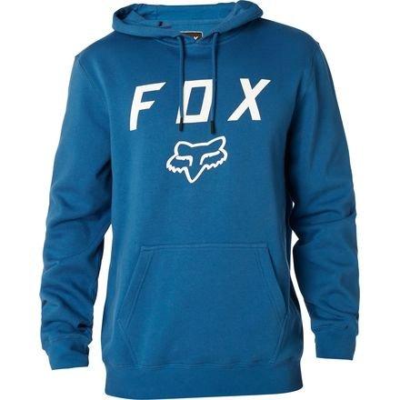 Fox Men's Standard Fit Legacy Logo Pullover Hooded Sweatshirt, Blue1, Small