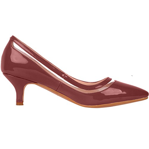 low price online buy cheap discount Calaier Womens Experience Closed-Toe 9.5CM Stiletto Slip-On Pumps Shoes Red outlet with paypal order online cDXQ8
