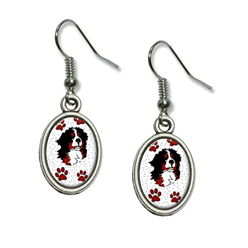Bernese Mountain Dog of Impressiveness Novelty Dangling Drop Oval Charm Earrings