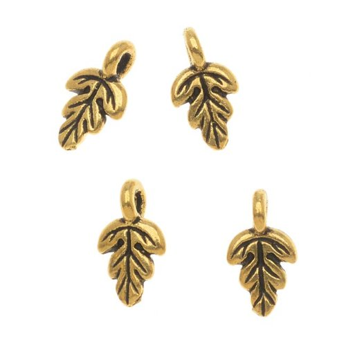 Oak Leaf Beads Charms - 4