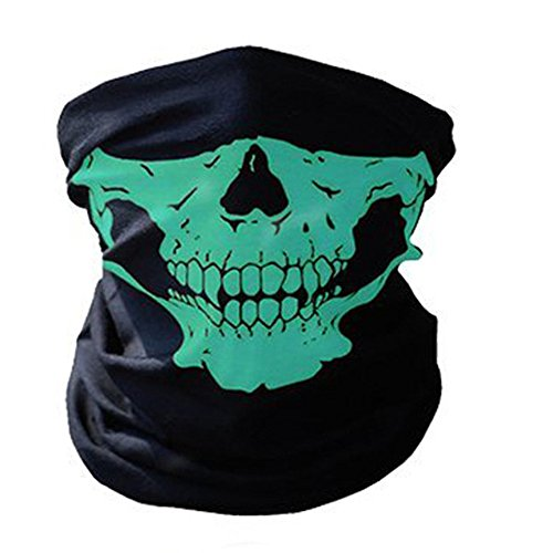 ZZoo Cotton Ghost Mask Skull Heads Warm Scarf Outdoor Cycling Dust Mask Halloween Cosplay Costume -