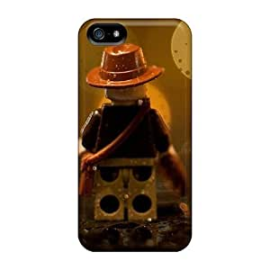 Protective Cases With Fashion Design For Iphone 5/5s (indiana Jones Lego In The Rain)